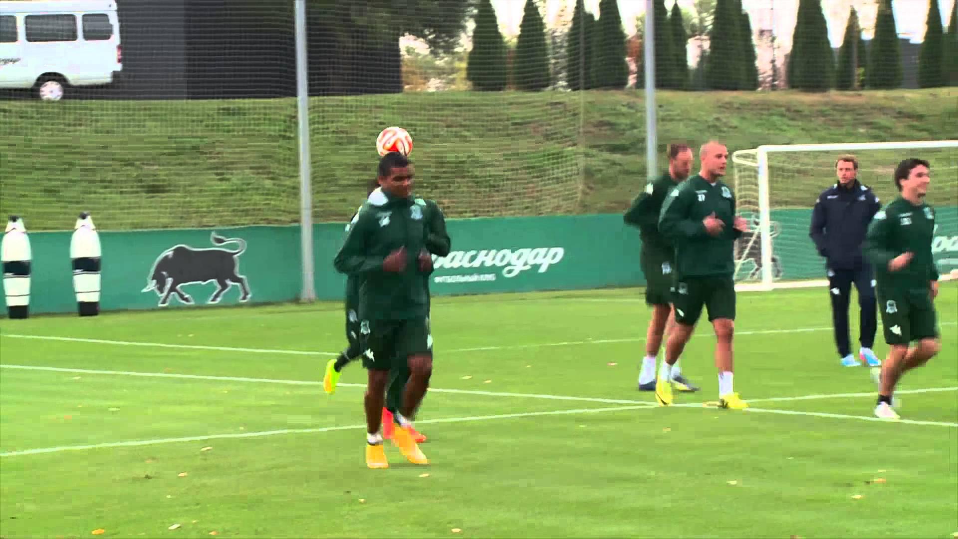 Тренировка «Краснодара» в преддверии матча с «Эвертоном»