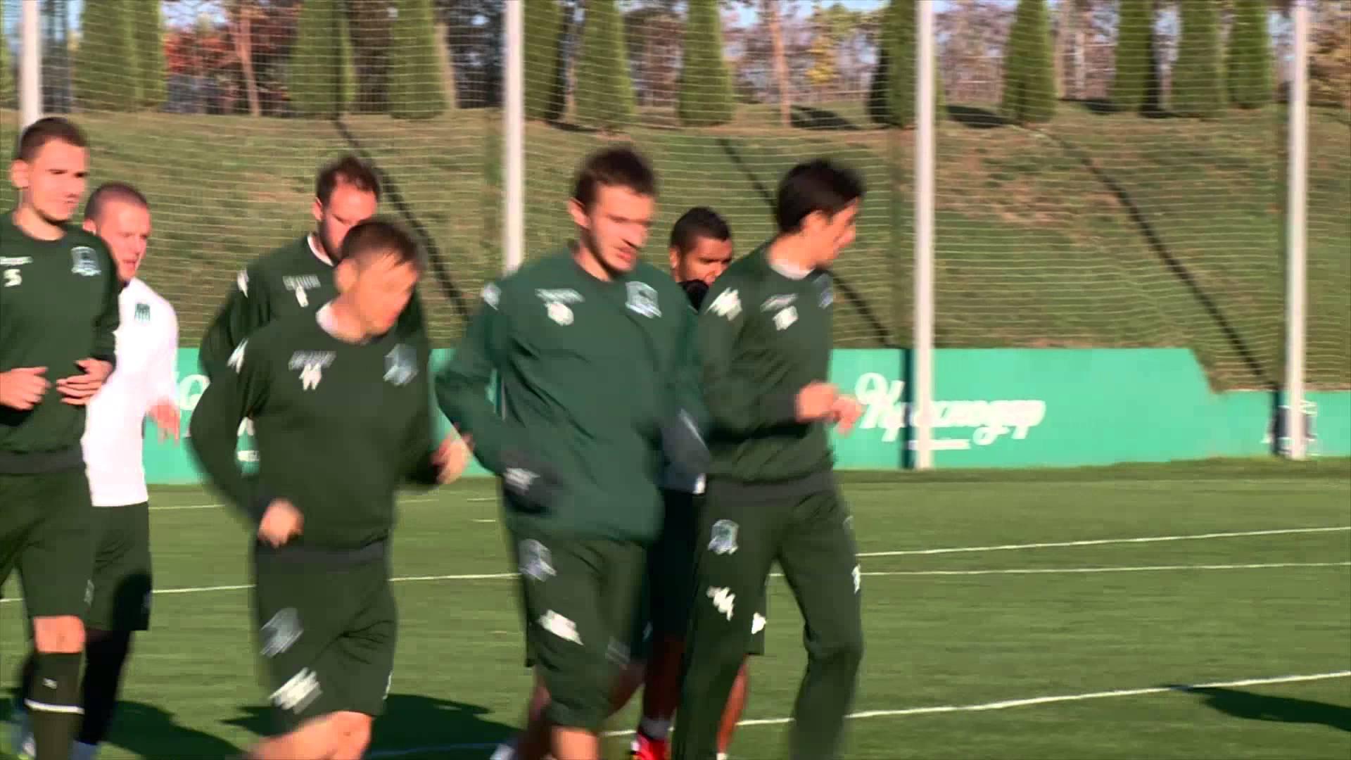 Тренировка «Краснодара» в преддверии матча с «Вольфсбургом»
