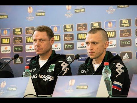 Пресс-конференция Олега Кононова и Павла Мамаева накануне домашнего матча с «Вольфсбургом»