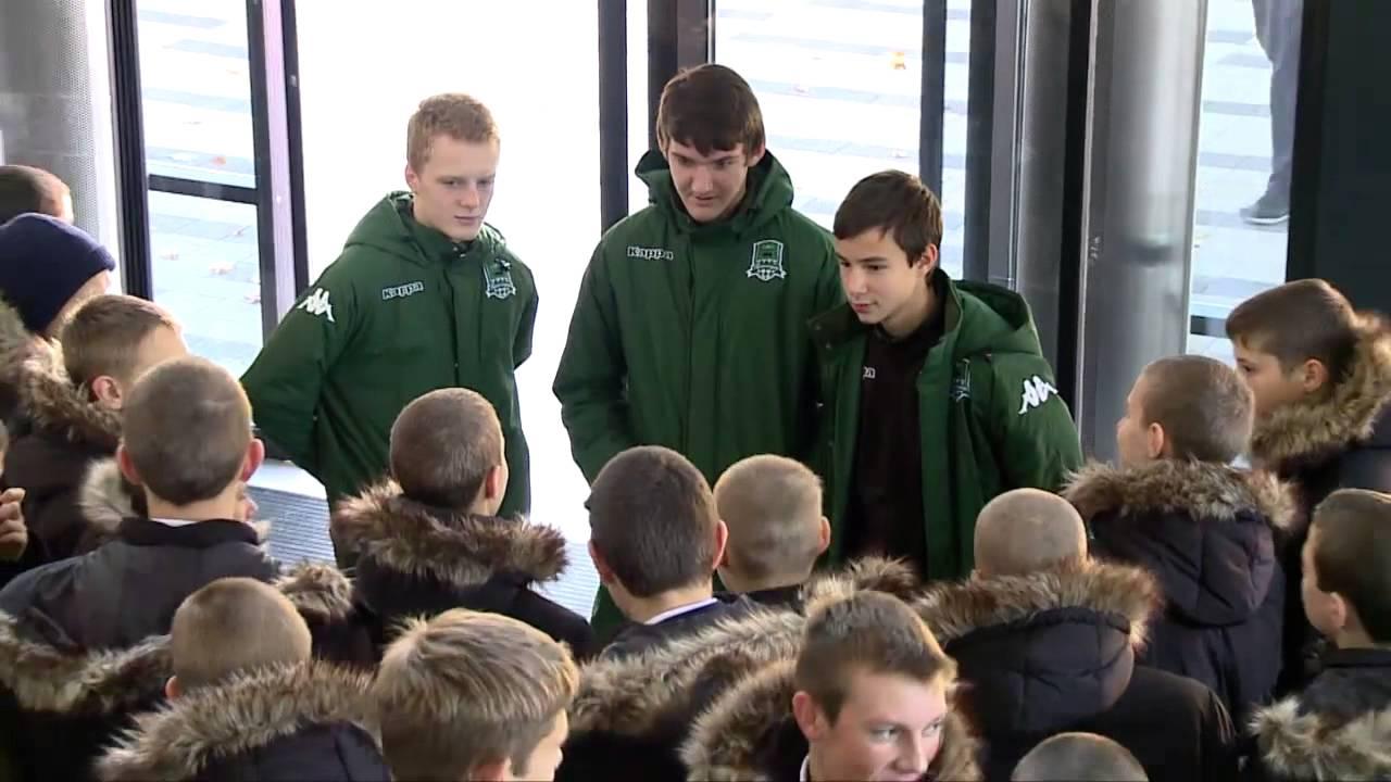 Кадеты в гостях у воспитанников Академии ФК «Краснодар»