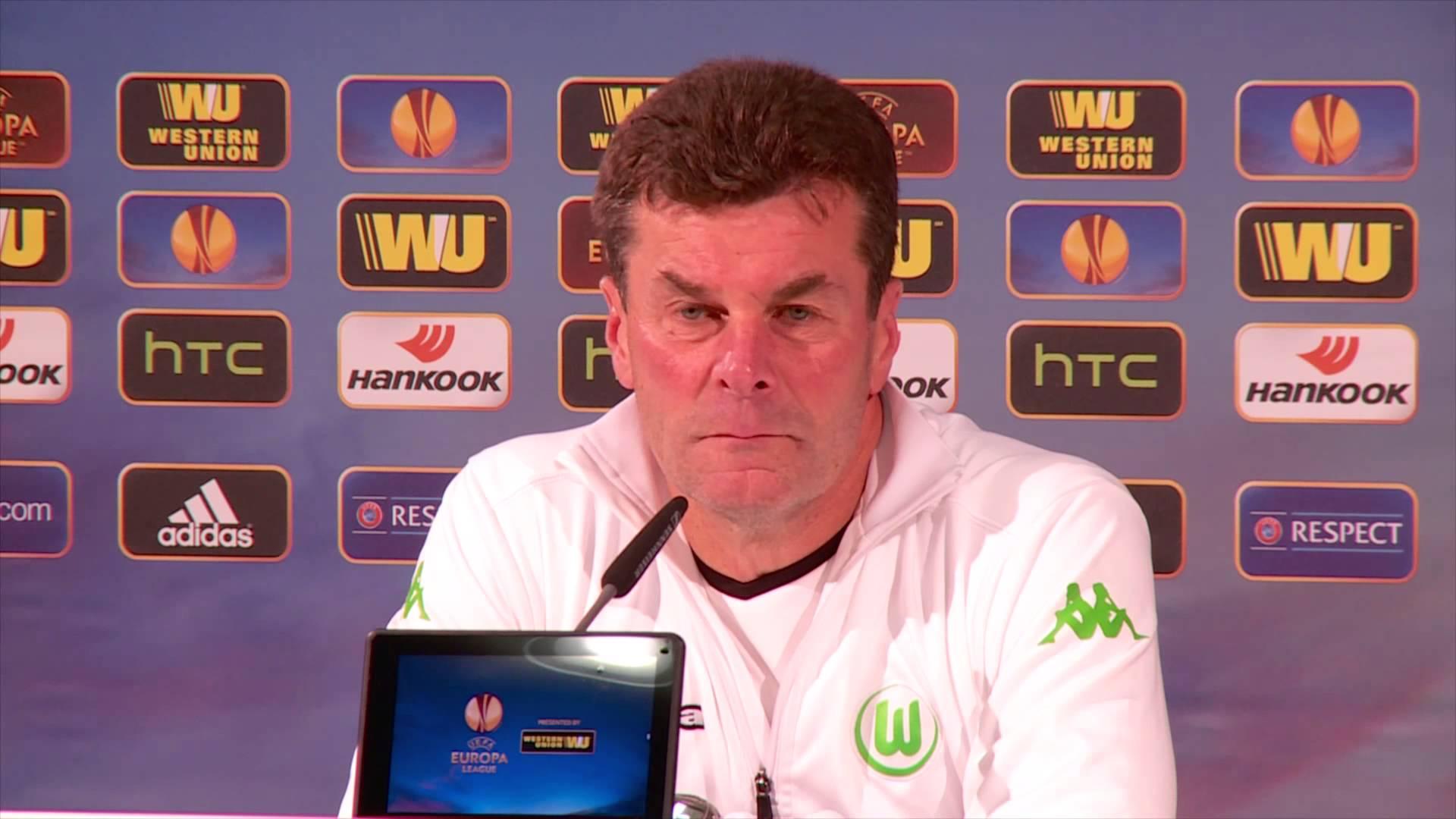 Пресс-конференция Дитера Хеккинга и Кевина Де Брюйне («Вольфсбург») накануне матча с «Краснодаром»