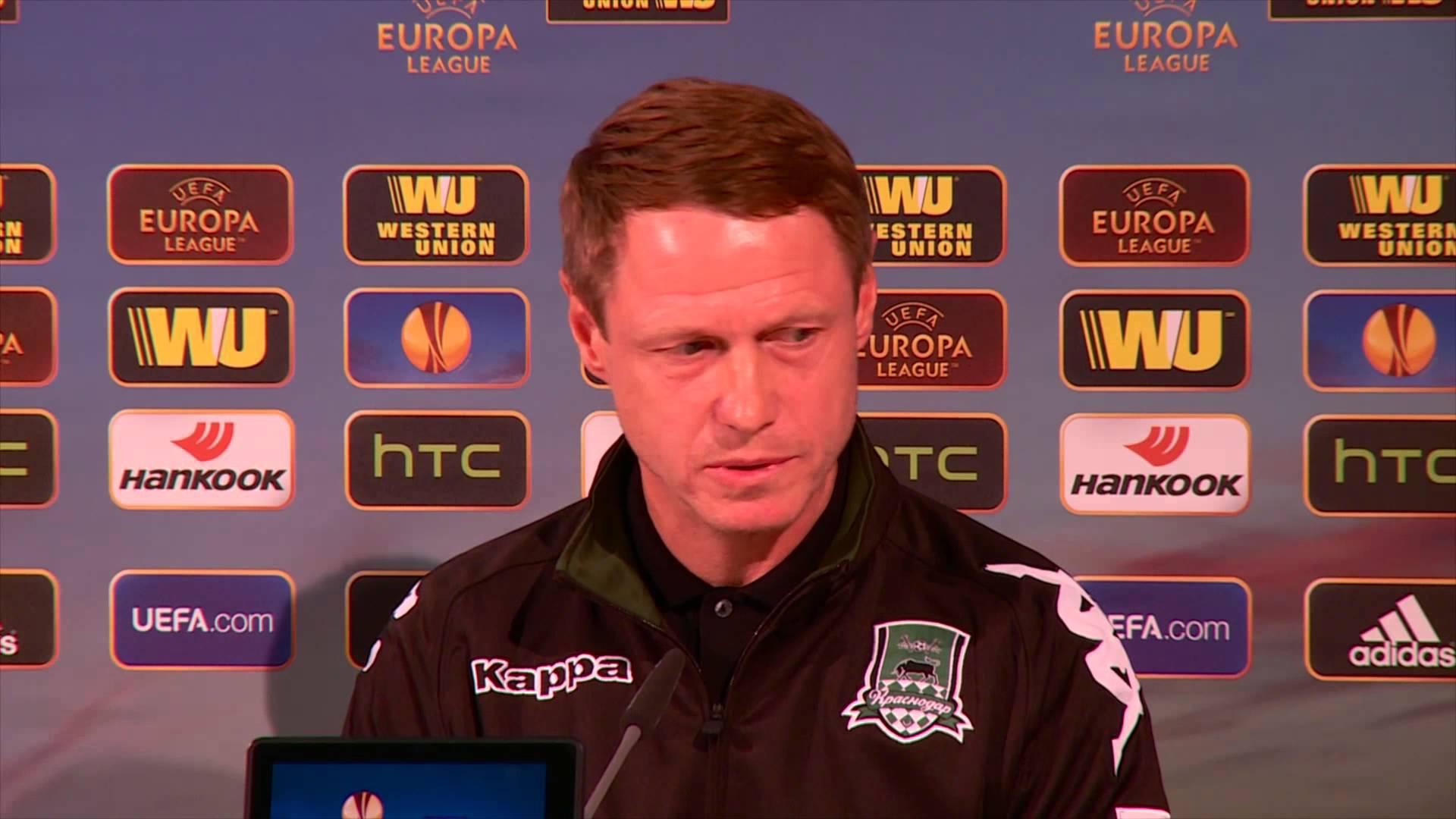 Пресс-конференция Олега Кононова и Юрия Газинского накануне матча с «Вольфсбургом»