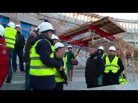 Экскурсия для болельщиков на строящийся стадион ФК «Краснодар»