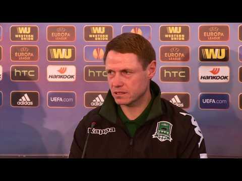 Пресс-конференция Олега Кононова и Франсишку Вандерсона накануне матча с «Лиллем»