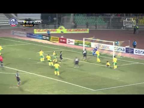Гол «Краснодара» забитый в ворота «Кубани» в матче 16-го тура СОГАЗ-Чемпионата России
