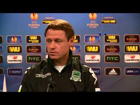 Пресс-конференция Олега Кононова и Рагнара Сигурдссона накануне матча с «Эвертоном»