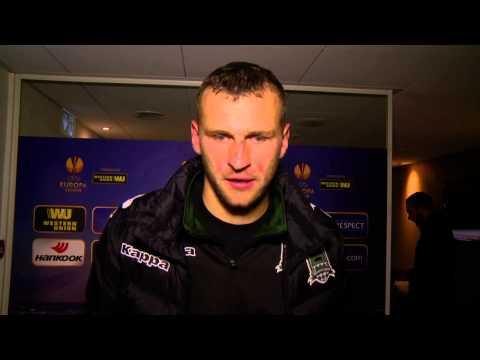 Флеш-интервью игроков «Краснодара» в смешанной зоне после матча с «Эвертоном»